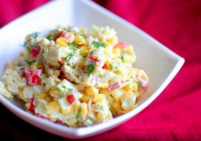 Фото салат из крабовых палочек