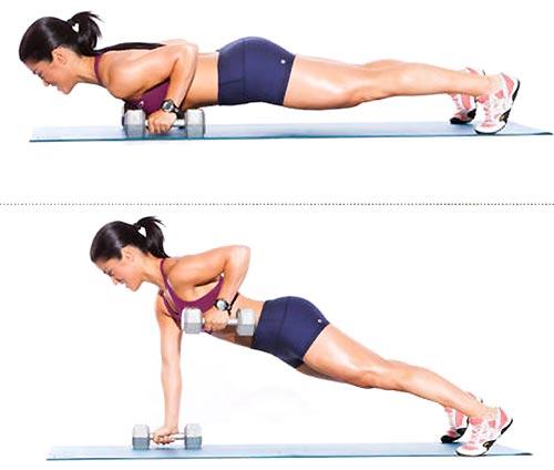 Упражнения для похудения рук и плеч с гантелями в домашних условиях