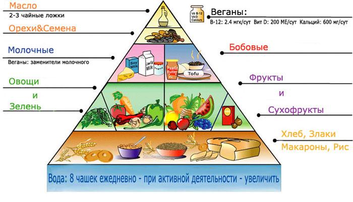 Правильное питание для вегетарианцев.